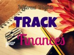 ways to track your finances