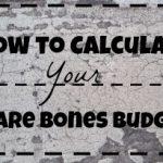 bare bones budget