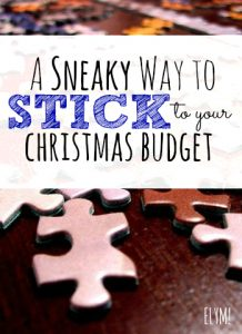 Are you worried about spending too much money this Christmas? See if this sneaky trick can help you stick to your Christmas budget!