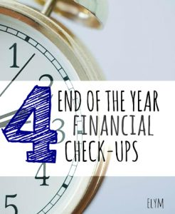The year is quickly coming to a close. If you want to start next year off on the right foot start working on these four financial check-ups.