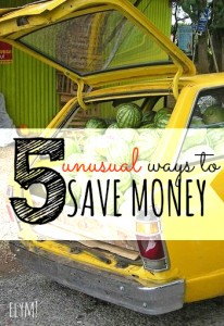Looking for some unusual ways to save money? I've found find weird, yet effective ways you can make your money go further. Will you be giving them a try?