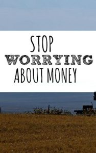 Are you anxious about money? The truth is worrying so much is doing nothing to help you're situation. Try this instead.