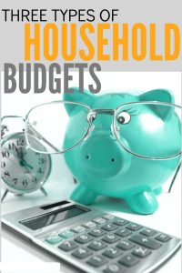 Looking for a household budget that will work for your family? Here are three different types plus real life examples of each one.