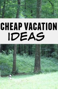 The average family vacation can run you thousands of dollars. If you've been thinking up cheap vacation ideas here are a few to get you started.