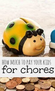 Wondering how much to pay your kids for chores? Here's what I do and some examples from other parents as well!