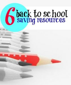 Want to save on back to school shopping? These six resources cover everything from first day memories, to school supplies, to clothing.