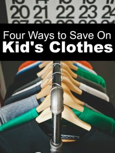 Kids don't have to be expensive as you think! Here are four smart ways to save on kid's clothes.