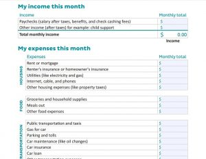 jumpstart your finances with a printable monthly budget worksheet