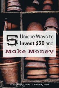 If you're looking for some non-traditional ways to invest $20, here are five to get you started.