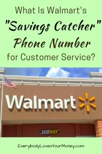 Walmart Savings Catcher Phone Number