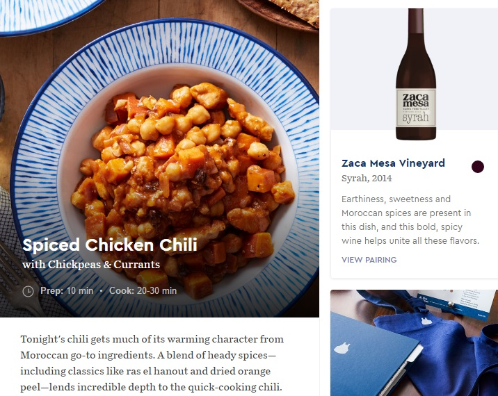 Blue Apron - Meal Summary screenshot