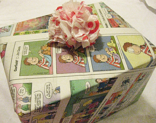 reuse wrapping paper